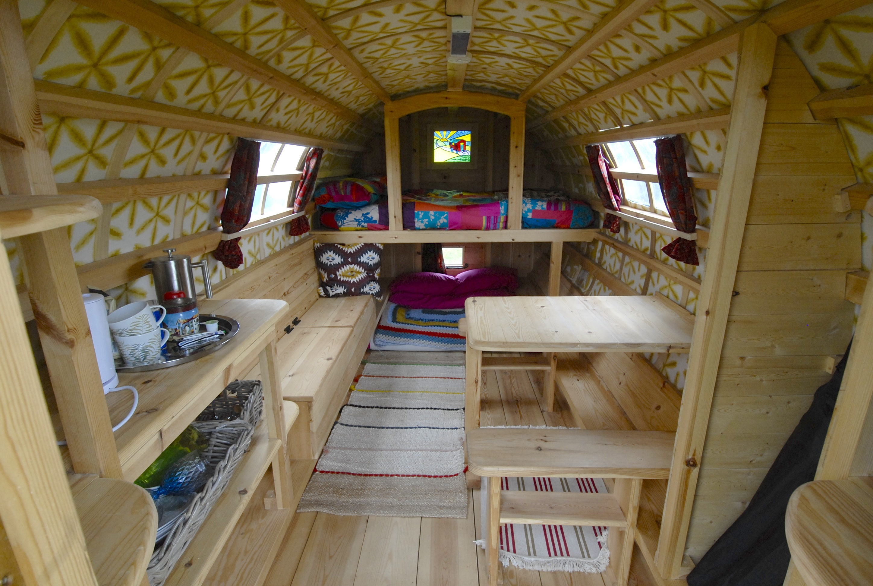 Interior of Flo - Gypsy Caravan Hire