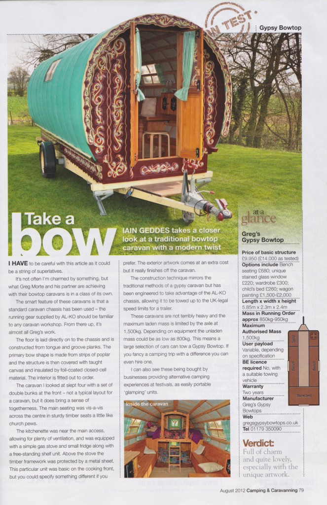 Camping and caravaning magazine August 2012