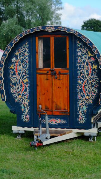 Exterior of Bluebell - Gypsy caravan for hire