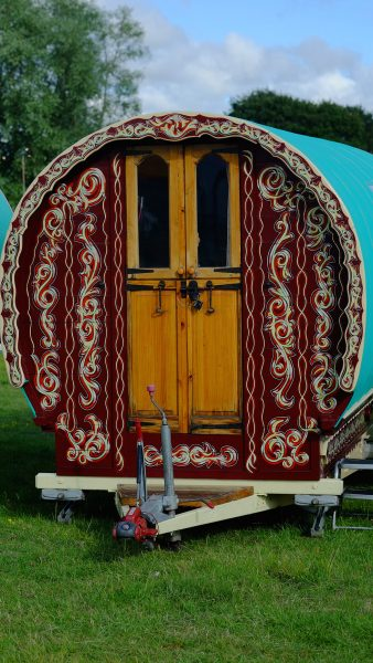 Exterior of Ruby - Gypsy caravan for hire