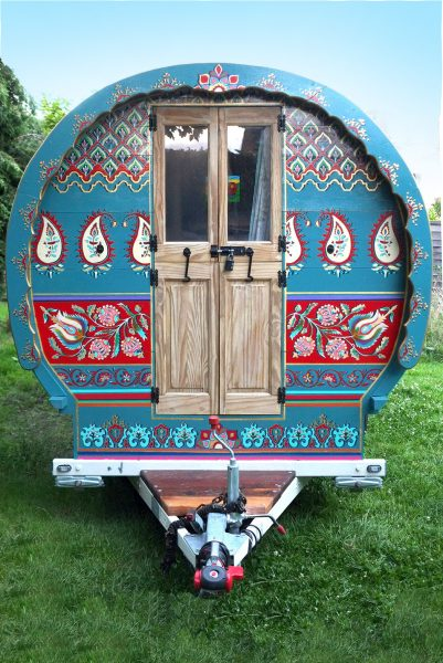 Exterior of Indigo - Gypsy caravan for hire