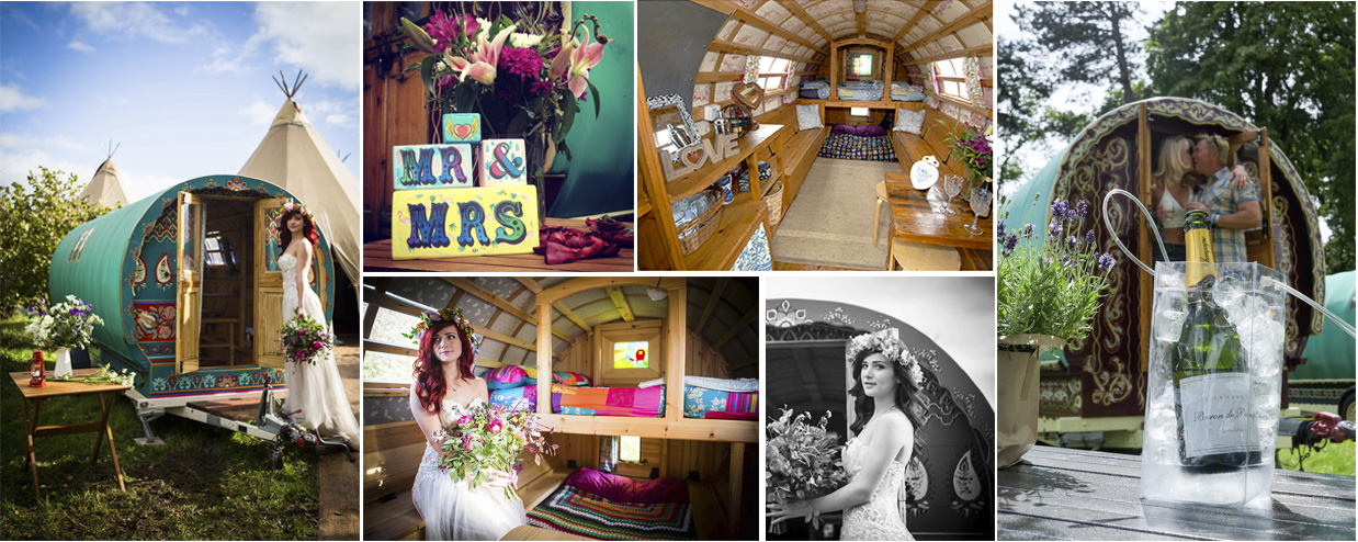 Hire a Gypsy bowtop caravan for your wedding