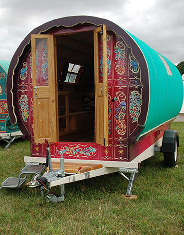 Exterior of Frida - Gypsy Caravan Hire